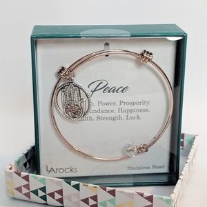 LA Rocks Jewelry - LA Rocks Hand of Fatima Rose Gold Bracelet NIB